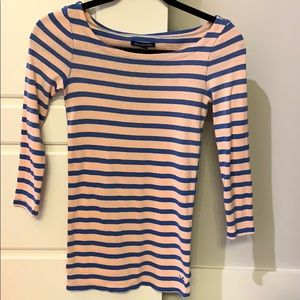 American Eagle small pink and blue top